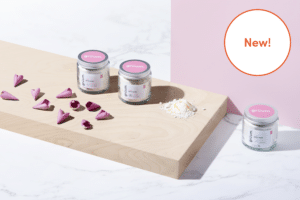 Gruum product image with New sugn salt soaks in Rose & Vanilla, Sicilian Lemon and Jasmine